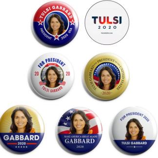 Tulsi Gabbard - set of 7 pins