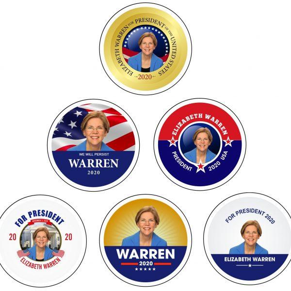WARREN Campaign Buttons