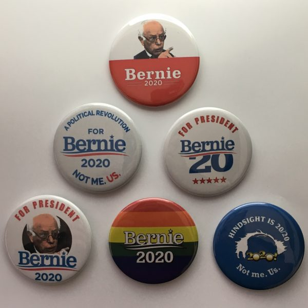 Bernie Sanders Campaign Buttons Set of 6 (SANDERS-801-ALL)