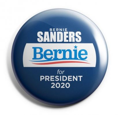 Blue & White Bernie Sanders For President 2020 Campaign Button (SANDERS-707)
