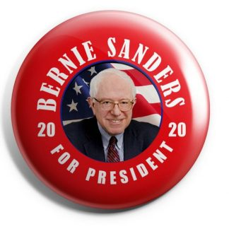 Red Bernie Sanders For President 2020 Campaign Button (SANDERS-709)