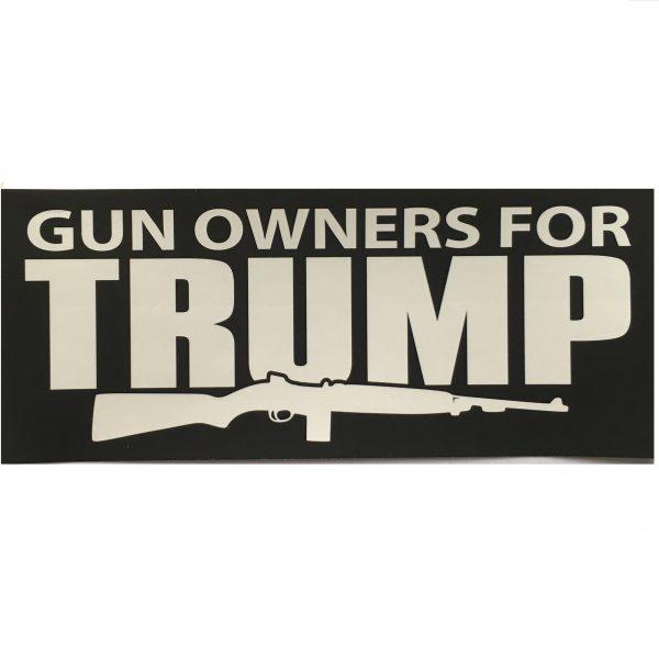 Gun Owners For Trump Sticker