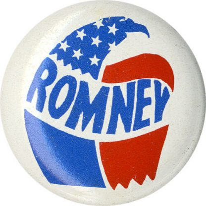 1968 George Romney Stylized Eagle Campaign Logo Button (5233)