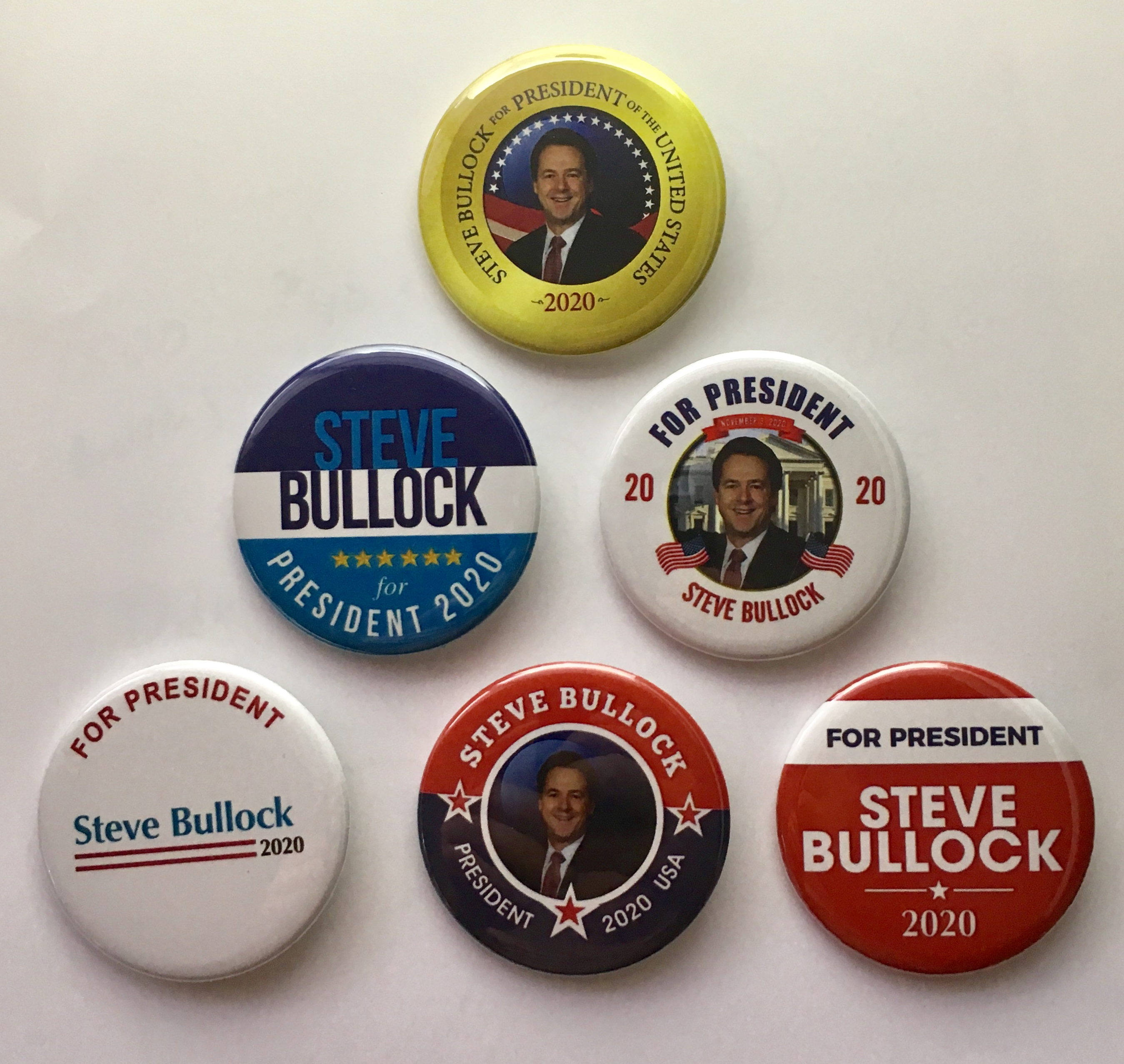 2.25 inch pins Cory Booker for President Set of 6 campaign buttons