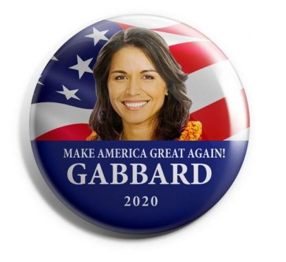 Tulsi Gabbard for President Campaign Button (GABBARD-705)