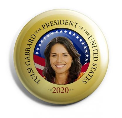 Tulsi Gabbard for President Campaign Button (GABBARD-701)