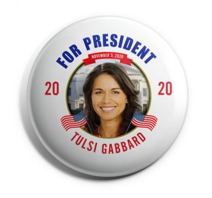 Tulsi Gabbard campaign buttons