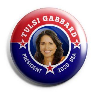Tulsi Gabbard for President Campaign Button (GABBARD-703)