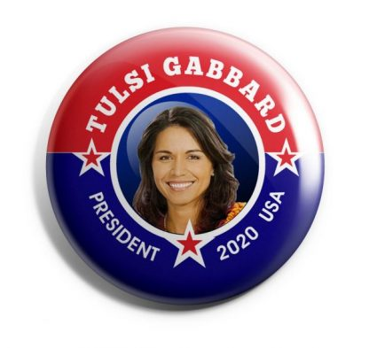 Tulsi Gabbard for President Campaign Button (GABBARD-703)