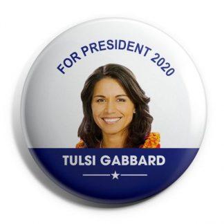 Tulsi Gabbard for President Campaign Button (GABBARD-706)