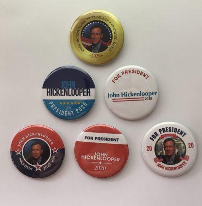 John Hickenlooper for President - Set of 6 buttons