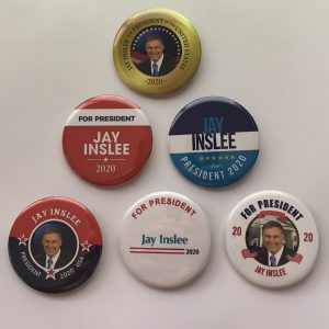 Jay Inslee campaign buttons set