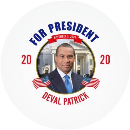 Deval Patrick 2020 campaign button