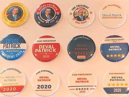 Deval Patrick campaign buttons