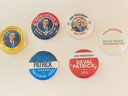 Deval Patrick campaign buttons - Set #1
