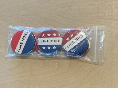 I Like Mike Buttons - Set of 12 pins for Michael Bloomberg 2020 (2.25 inches)
