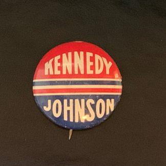 ORIGINAL 1960 JFK JOHN F KENNEDY / Johnson PINBACK CAMPAIGN BUTTON