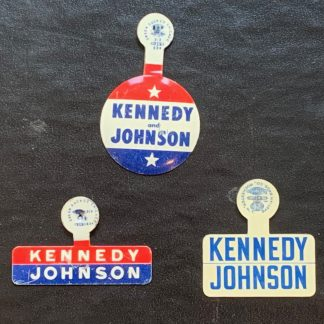 John F. Kennedy and Johnson Set of 3 Lapel Pin - Set of 3