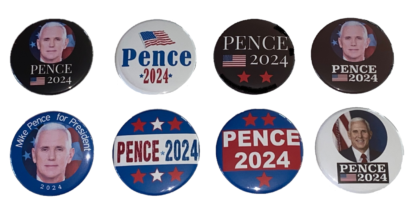 Mike Pence 2024 - set of 8 buttons